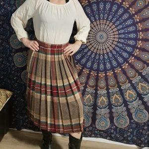 Funky Fun Vintage Wool Plaid Skirt 70's